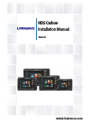 Lowrance HDS Carbon Fish Finder Manual (88 pages)