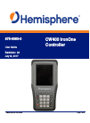 Hemisphere GPS CW400 Controller Manual (55 pages)