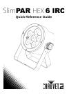 Chauvet SlimPAR HEX 6 IRC DJ Equipment Manual (36 pages)
