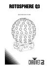 Chauvet Rotosphere Q3 DJ Equipment Manual (50 pages)