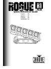 Chauvet Rogue R1 FX-B DJ Equipment Manual (184 pages)