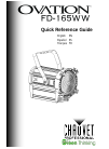 Chauvet Ovation FD-165WW DJ Equipment Manual (20 pages)