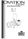 Chauvet Ovation E-910FC DJ Equipment Manual (40 pages)