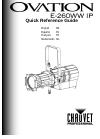 Chauvet Ovation E-260WW IP DJ Equipment Manual (24 pages)