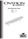 Chauvet ovation B-1965FC DJ Equipment Manual (84 pages)