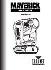 Chauvet maverick mk1 spot DJ Equipment Manual (40 pages)