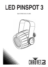 Chauvet LED Pinspot 3 DJ Equipment Manual (20 pages)