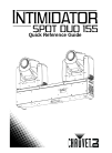 Chauvet INTIMIDATOR SPOT DUO 155 DJ Equipment Manual (140 pages)