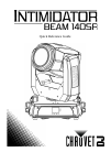 Chauvet Intimidator Hybrid 140SR DJ Equipment Manual (68 pages)