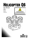 Chauvet helicopter Q6 DJ Equipment Manual (104 pages)