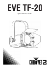 Chauvet EVE TF-20 DJ Equipment Manual (32 pages)
