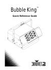 Chauvet Bubble King B-550 DJ Equipment Manual (36 pages)