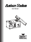 Chauvet Amhaze Stadium DJ Equipment Manual (18 pages)