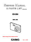 Casio EX Z60 - EXILIM ZOOM Digital Camera Digital Camera Manual (42 pages)