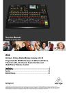 Behringer X32 DIGITAL MIXER DJ Equipment Manual (113 pages)
