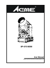 ACME XP-470 BSW DJ Equipment Manual (44 pages)