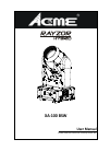 ACME RAYZOR HYBRID XA-100 BSW DJ Equipment Manual (29 pages)