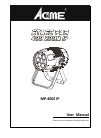 ACME MP-400Z IP DJ Equipment Manual (20 pages)