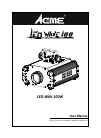 ACME LED WAVE 100 DJ Equipment Manual (16 pages)