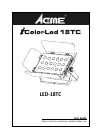 ACME iColorLed 18TC DJ Equipment Manual (18 pages)