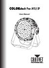 Chauvet COLORdash Par-h12 ip DJ Equipment Manual (24 pages)