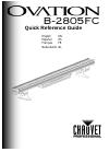 Chauvet ovation B-2805FC DJ Equipment Manual (160 pages)